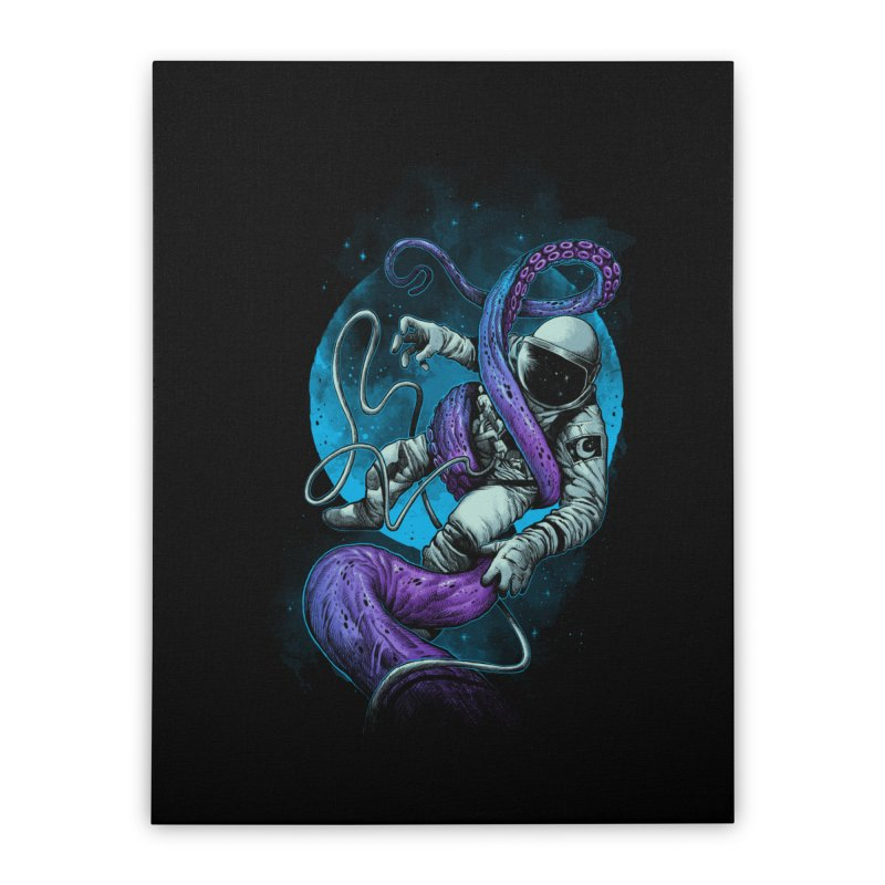 Octopus Attack Home Stretched Canvas by ES427's Artist Shop