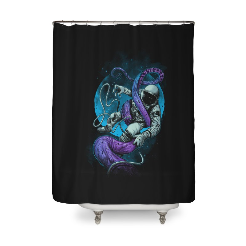 Octopus Attack Home Shower Curtain by ES427's Artist Shop