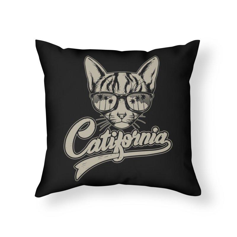 Catifornia Home Throw Pillow by ES427's Artist Shop