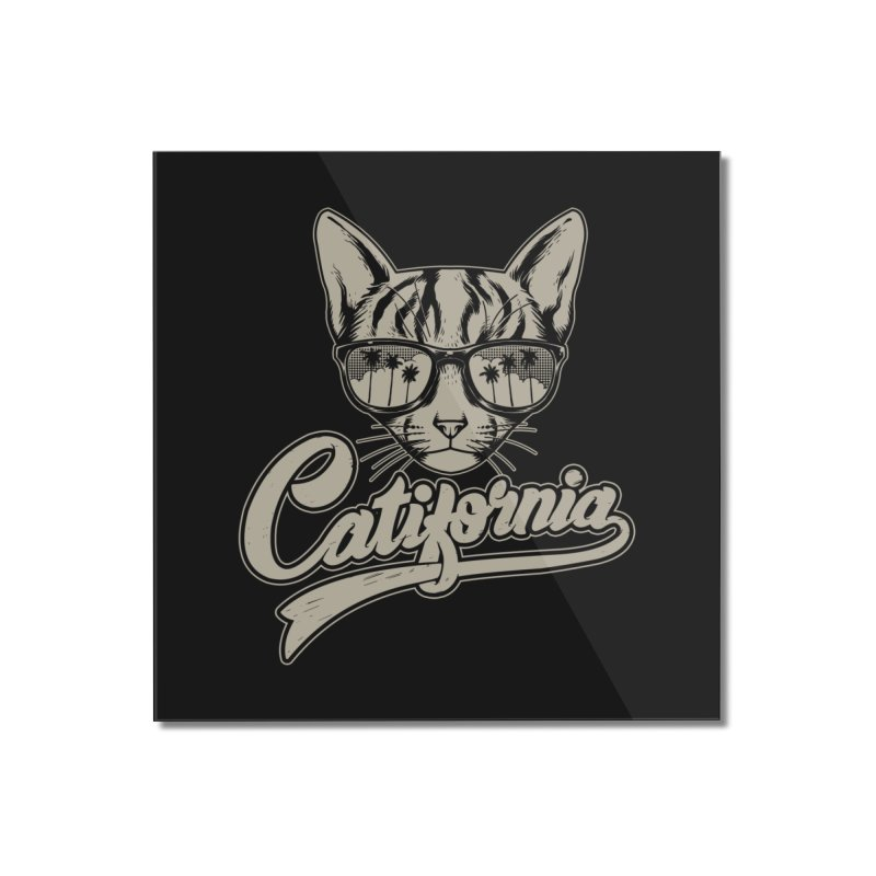Catifornia Home Mounted Acrylic Print by ES427's Artist Shop