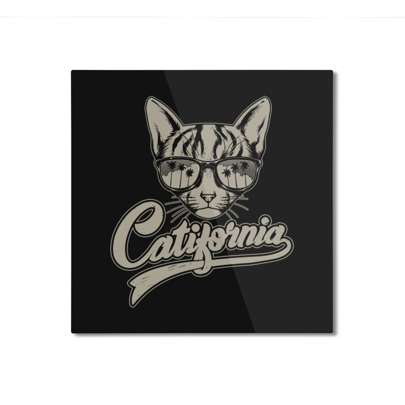 Catifornia Home Mounted Aluminum Print by ES427's Artist Shop
