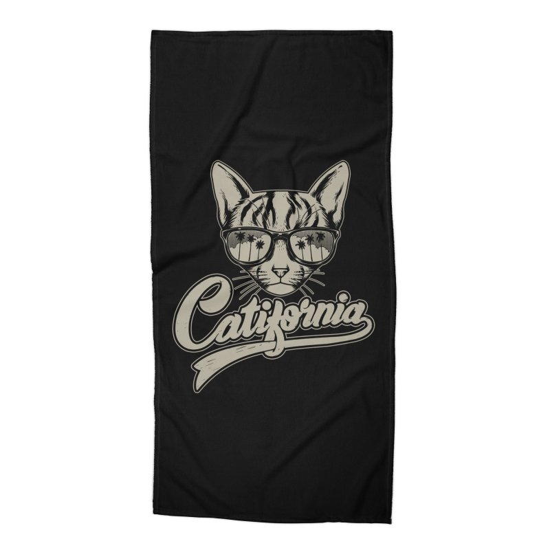 Catifornia Accessories Beach Towel by ES427's Artist Shop