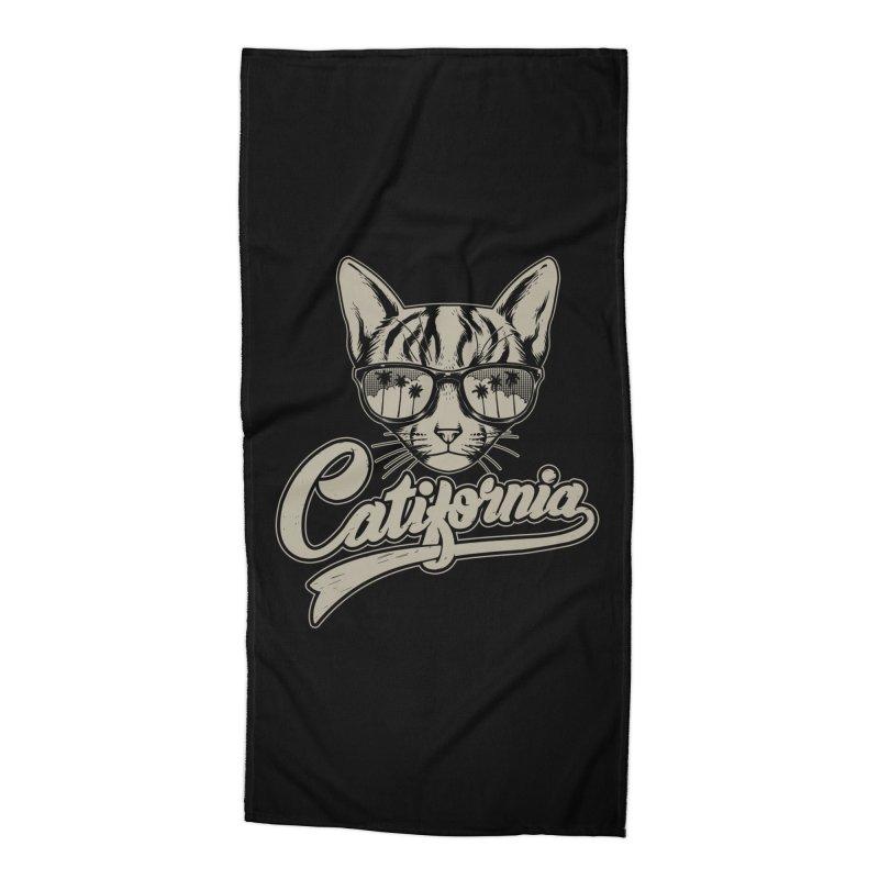 Catifornia Accessories Beach Towel by ES427's Artist Shop