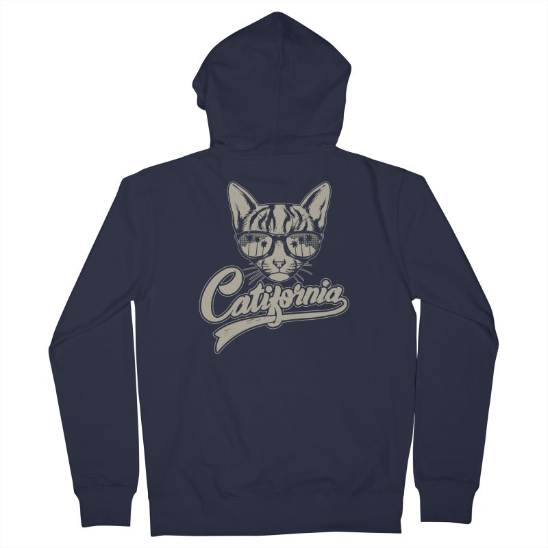 Catifornia Women's French Terry Zip-Up Hoody by ES427's Artist Shop