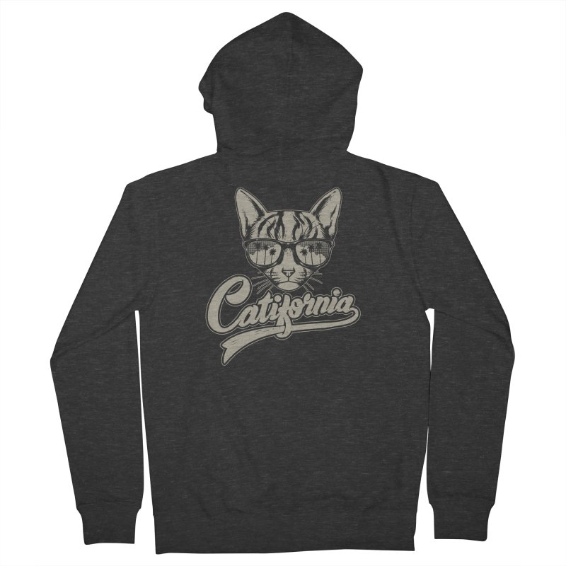 Catifornia Men's French Terry Zip-Up Hoody by ES427's Artist Shop