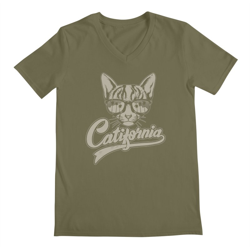 Catifornia Men's Regular V-Neck by ES427's Artist Shop