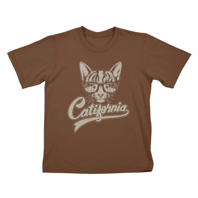 Catifornia Kids T-Shirt by ES427's Artist Shop