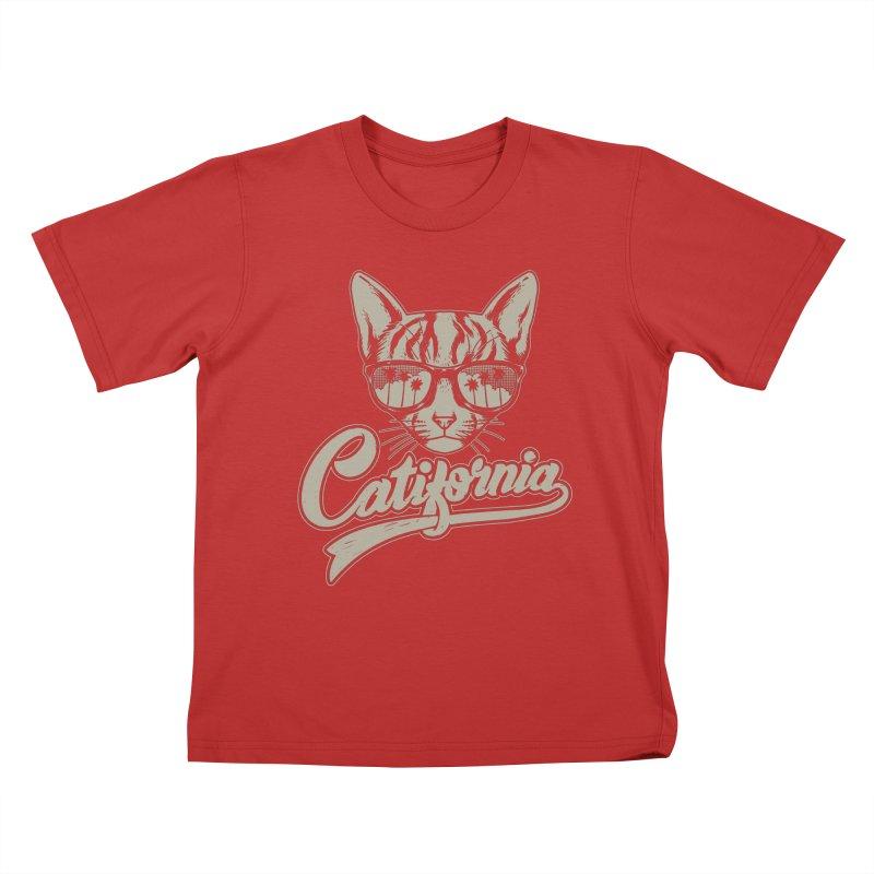 Catifornia Kids T-Shirt by ES427's Artist Shop