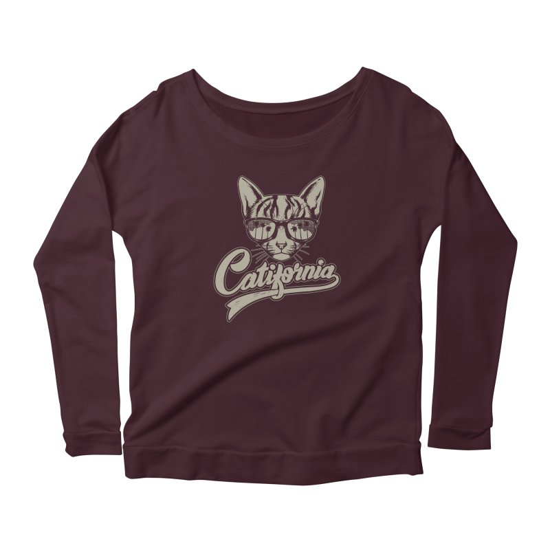 Catifornia Women's Scoop Neck Longsleeve T-Shirt by ES427's Artist Shop