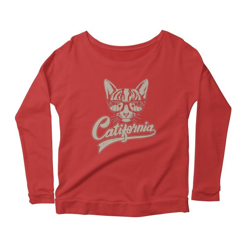 Catifornia Women's Scoop Neck Longsleeve T-Shirt by ES427's Artist Shop