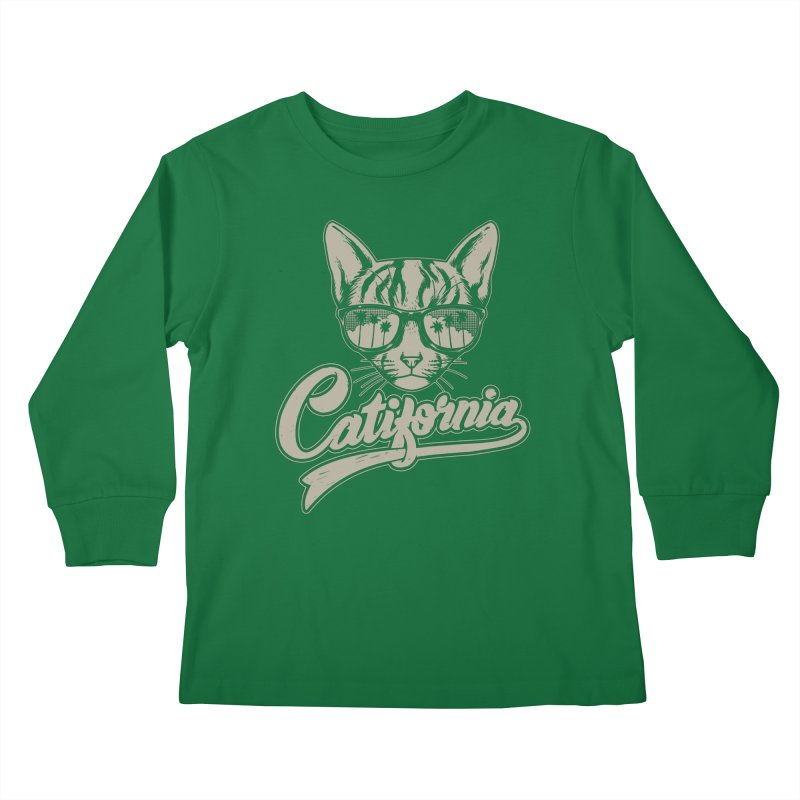 Catifornia Kids Longsleeve T-Shirt by ES427's Artist Shop
