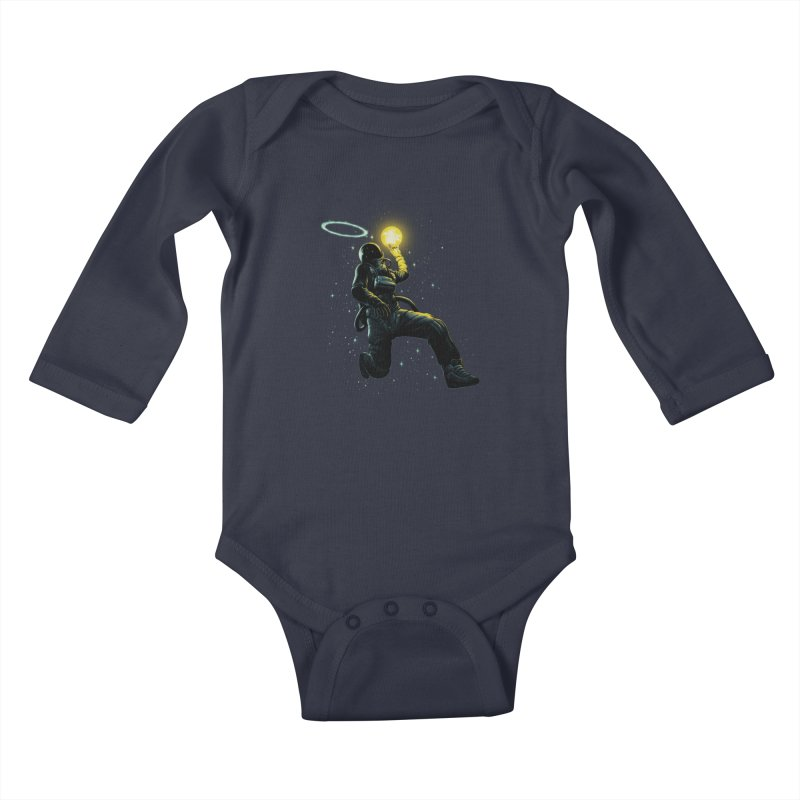 Astro Slam Dunk Kids Baby Longsleeve Bodysuit by ES427's Artist Shop