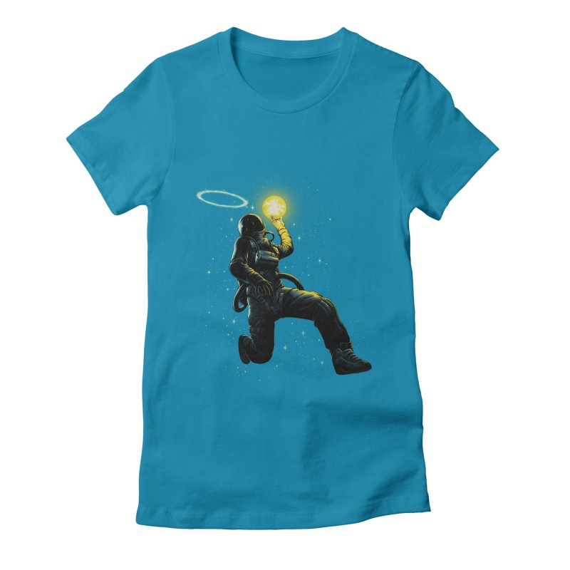Astro Slam Dunk Women's Fitted T-Shirt by ES427's Artist Shop