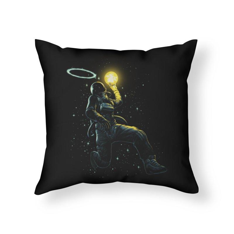 Astro Slam Dunk Home Throw Pillow by ES427's Artist Shop
