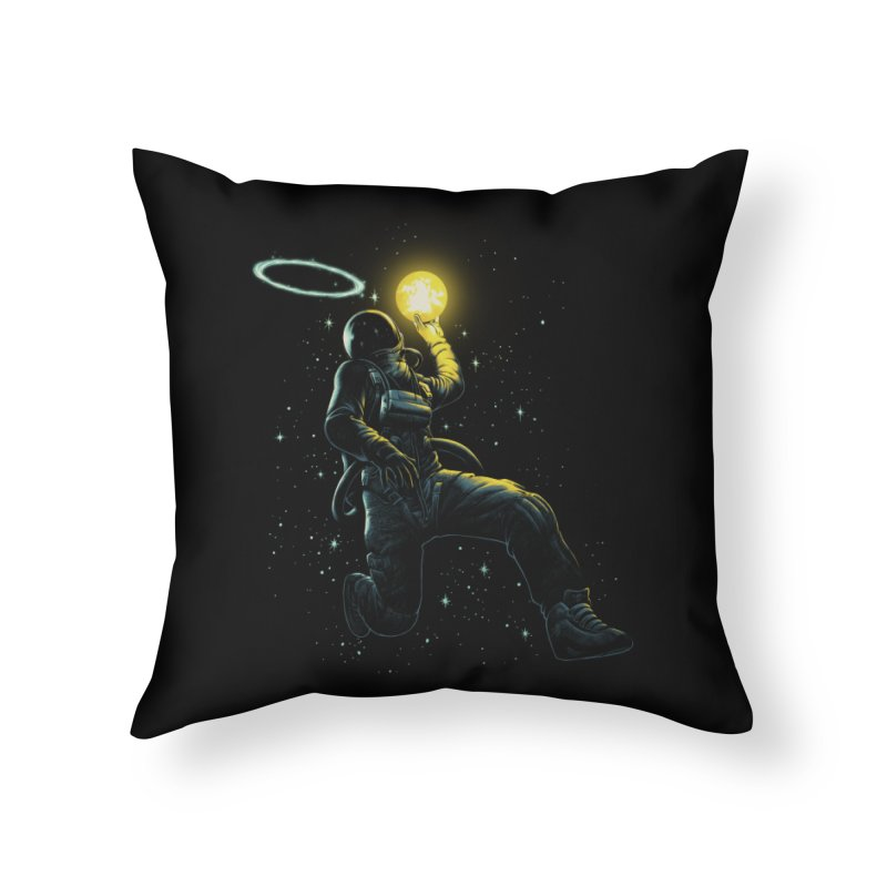 Astro Slam Dunk Home Throw Pillow by ES427's Artist Shop