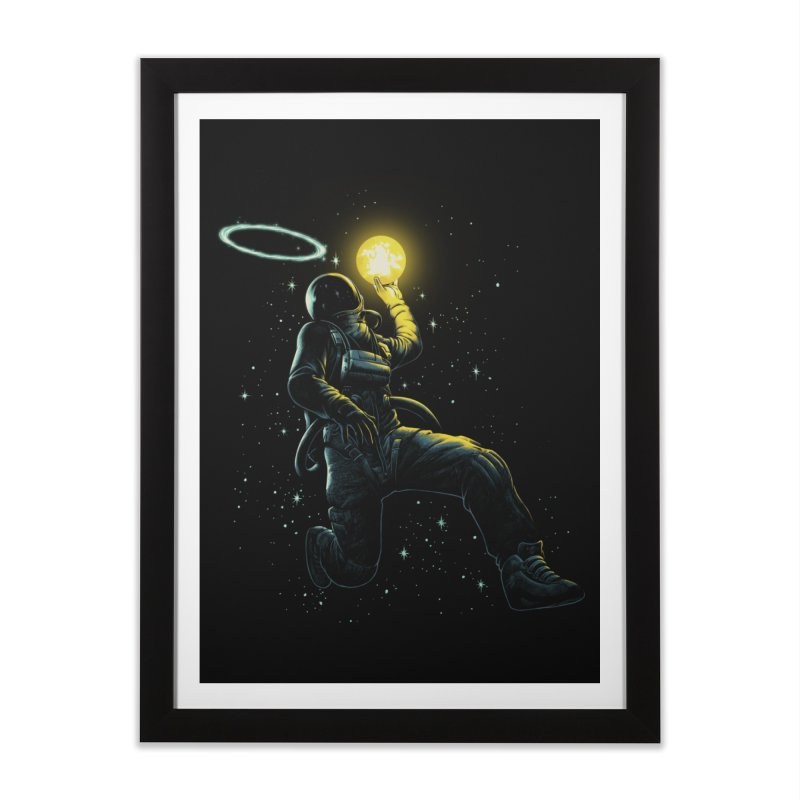 Astro Slam Dunk Home Framed Fine Art Print by ES427's Artist Shop