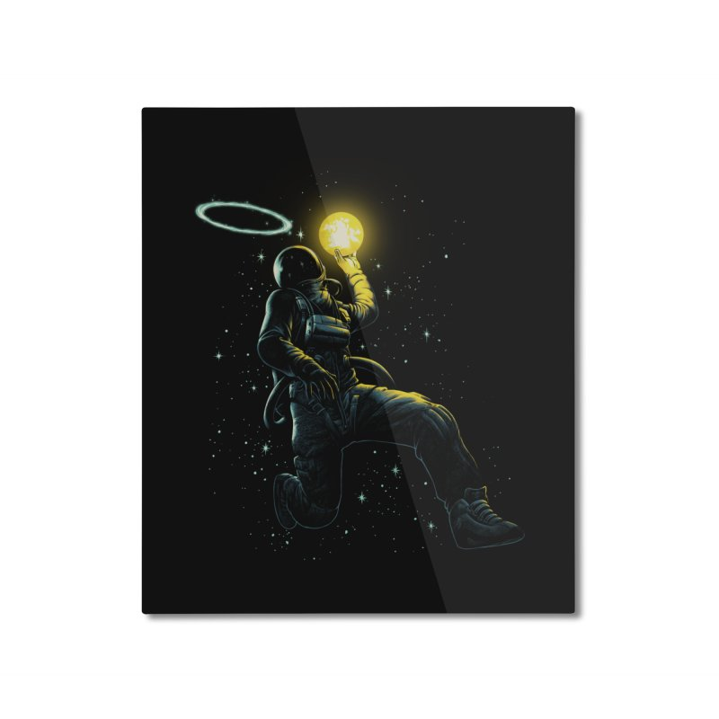 Astro Slam Dunk Home Mounted Aluminum Print by ES427's Artist Shop