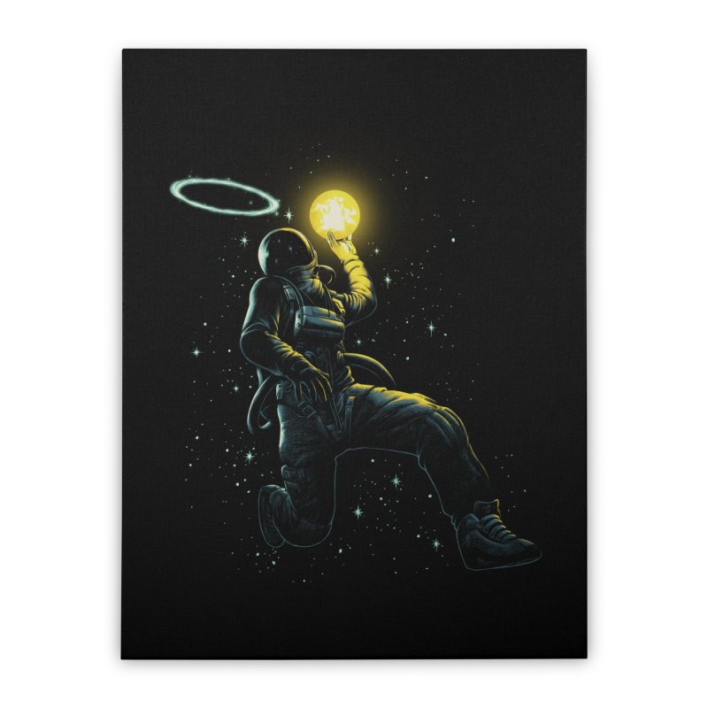 Astro Slam Dunk Home Stretched Canvas by ES427's Artist Shop