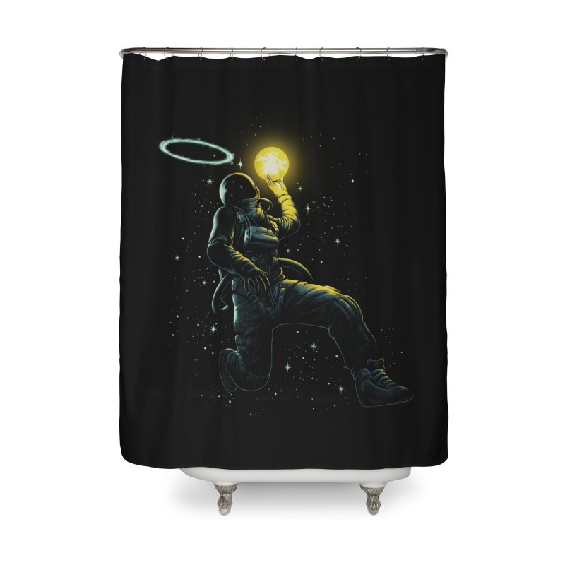 Astro Slam Dunk Home Shower Curtain by ES427's Artist Shop
