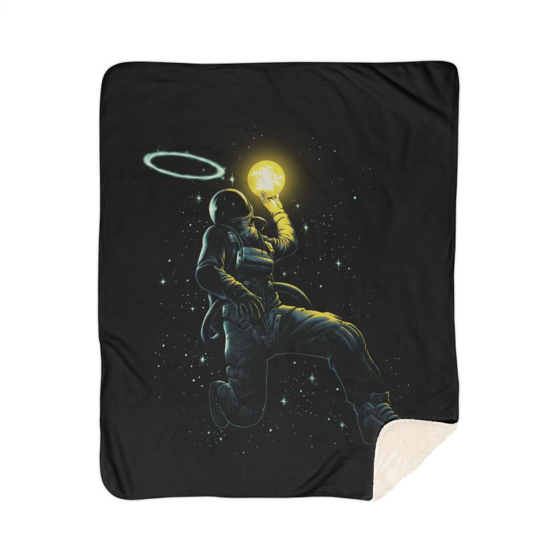 Astro Slam Dunk Home Sherpa Blanket Blanket by ES427's Artist Shop