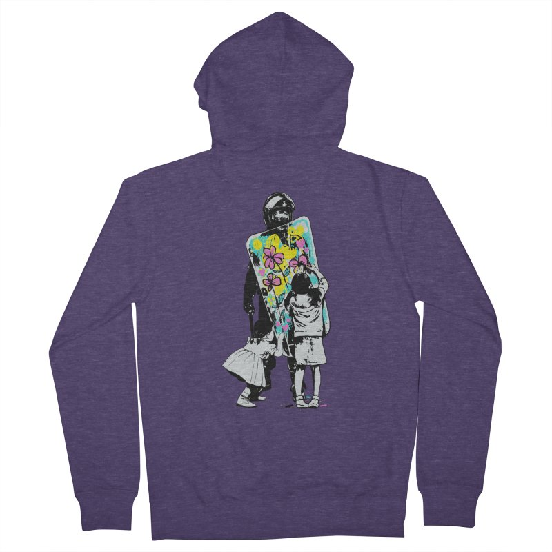 This is not a riot Men's French Terry Zip-Up Hoody by ES427's Artist Shop