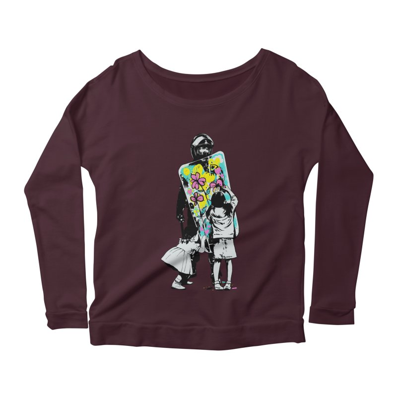 This is not a riot Women's Longsleeve Scoopneck  by ES427's Artist Shop