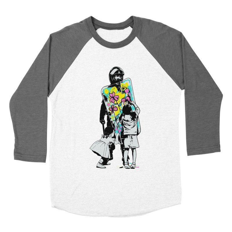 This is not a riot Women's Baseball Triblend Longsleeve T-Shirt by ES427's Artist Shop