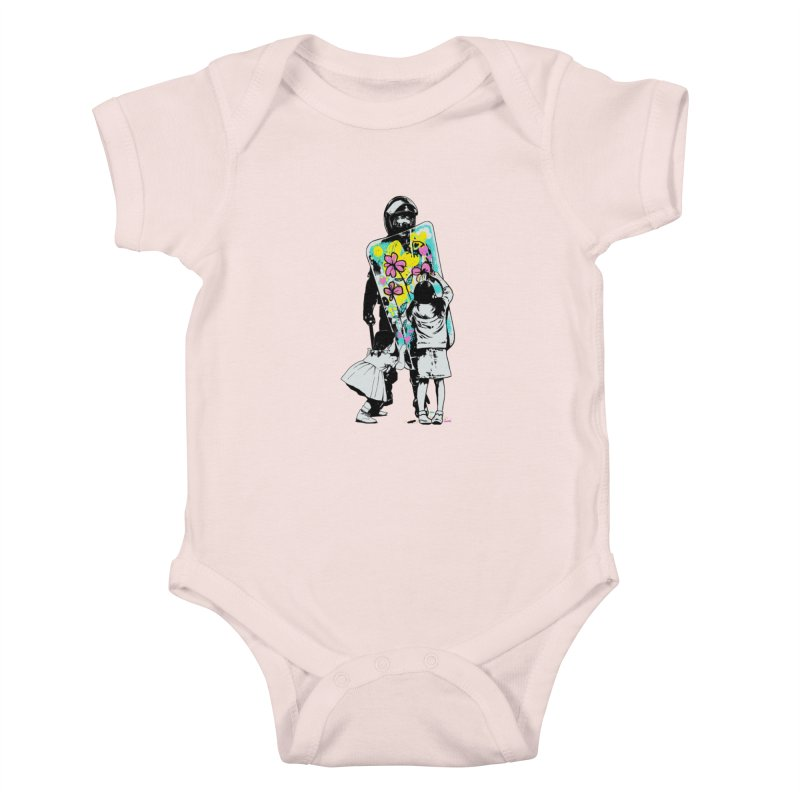 This is not a riot Kids Baby Bodysuit by ES427's Artist Shop