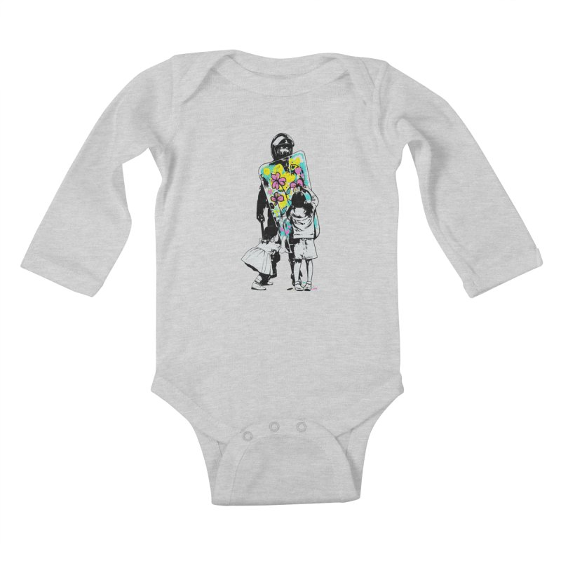 This is not a riot Kids Baby Longsleeve Bodysuit by ES427's Artist Shop