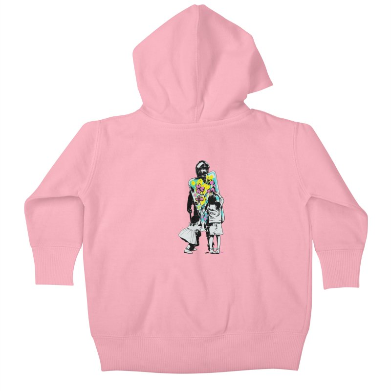 This is not a riot Kids Baby Zip-Up Hoody by ES427's Artist Shop
