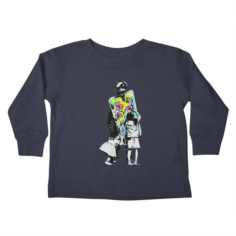 This is not a riot Kids Toddler Longsleeve T-Shirt by ES427's Artist Shop