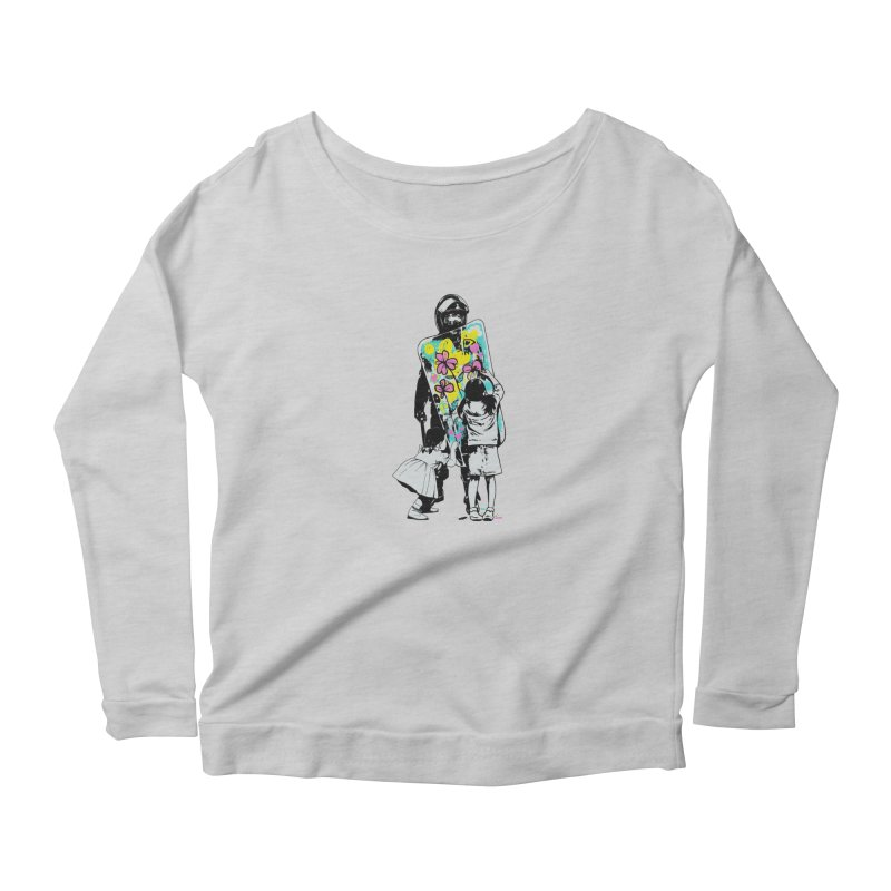 This is not a riot Women's Scoop Neck Longsleeve T-Shirt by ES427's Artist Shop
