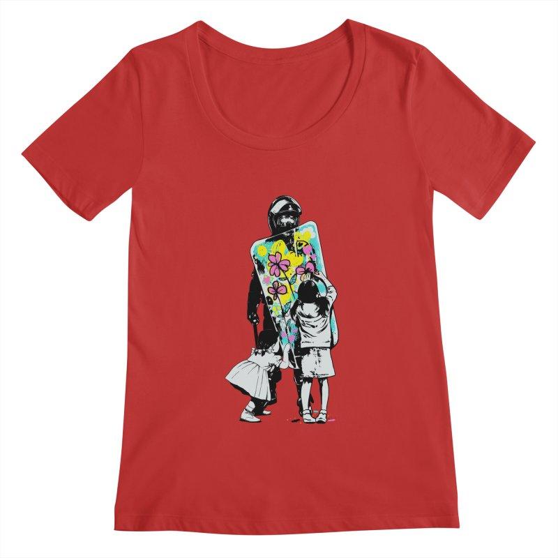 This is not a riot Women's Regular Scoop Neck by ES427's Artist Shop