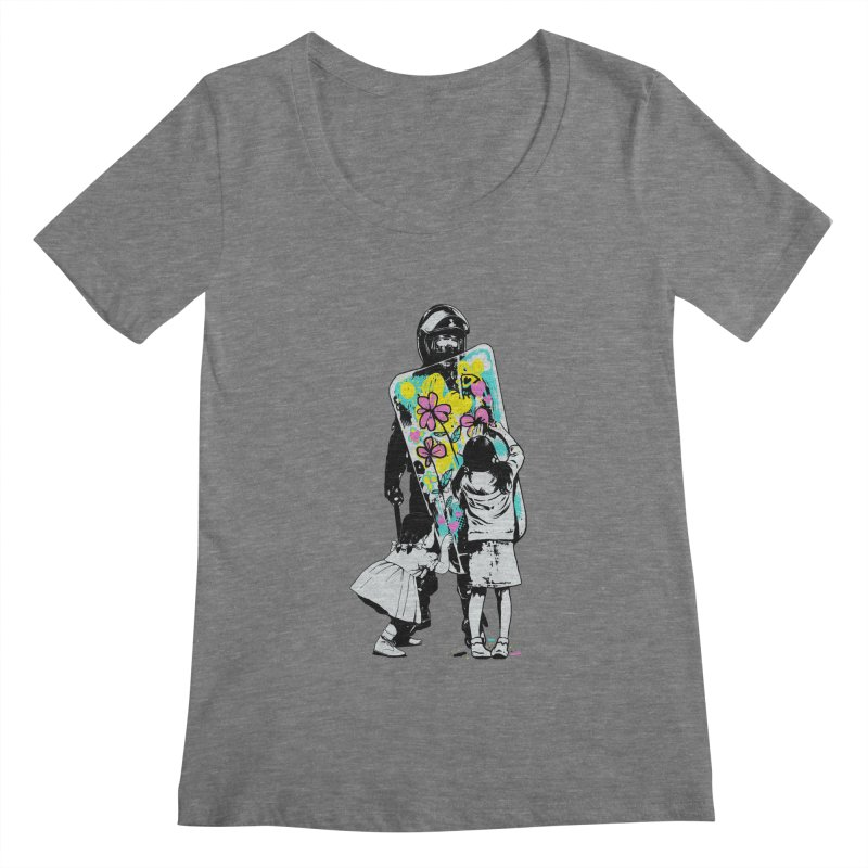 This is not a riot Women's Scoopneck by ES427's Artist Shop