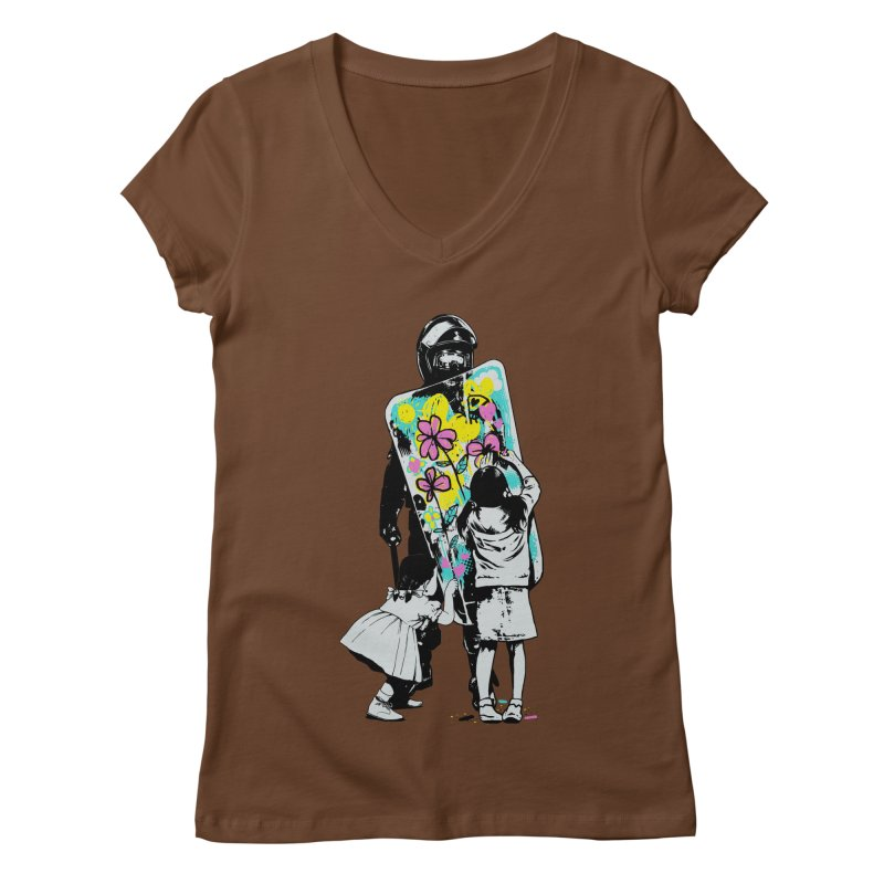 This is not a riot Women's Regular V-Neck by ES427's Artist Shop