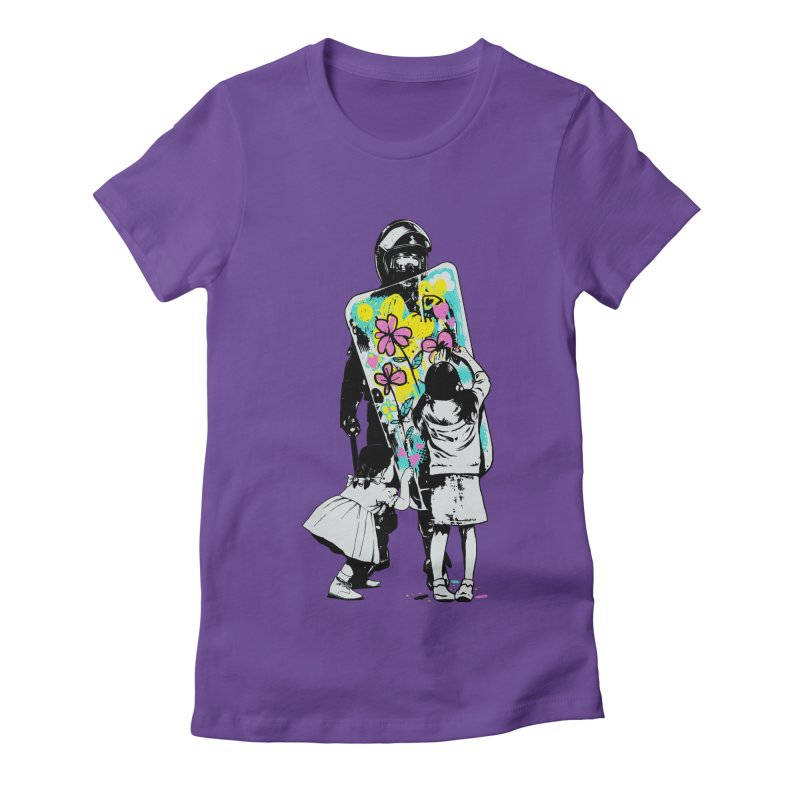 This is not a riot Women's Fitted T-Shirt by ES427's Artist Shop