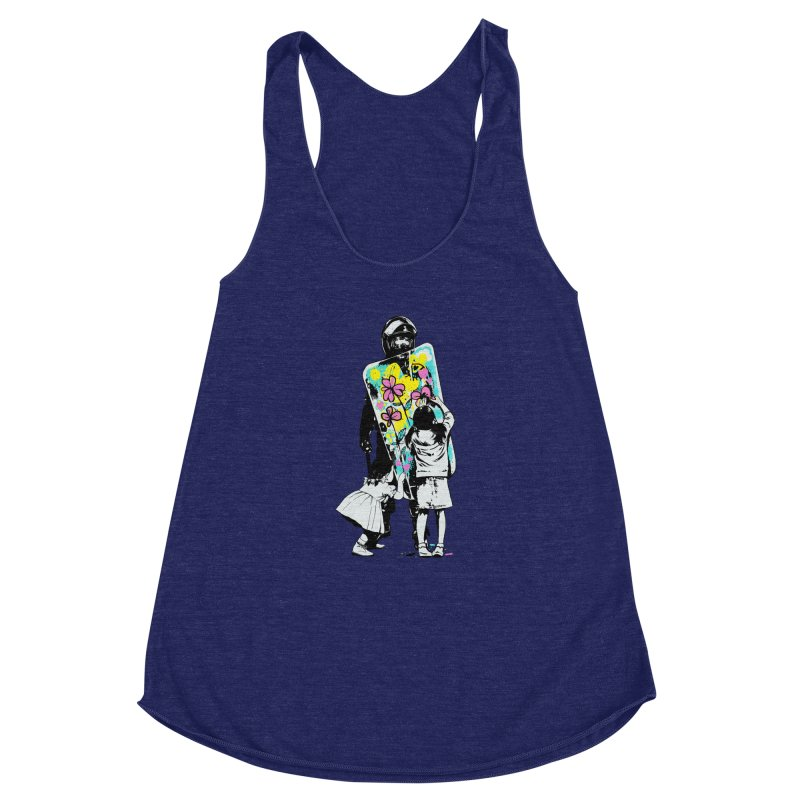 This is not a riot Women's Racerback Triblend Tank by ES427's Artist Shop