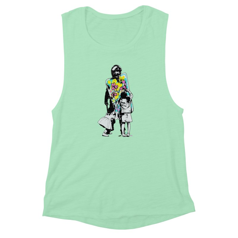 This is not a riot Women's Muscle Tank by ES427's Artist Shop