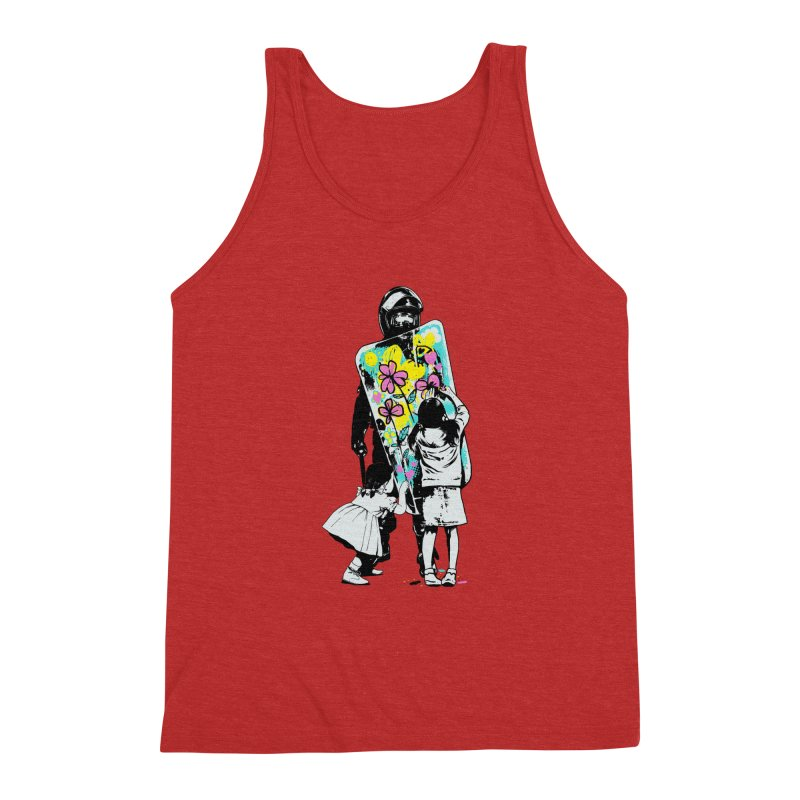 This is not a riot Men's Triblend Tank by ES427's Artist Shop