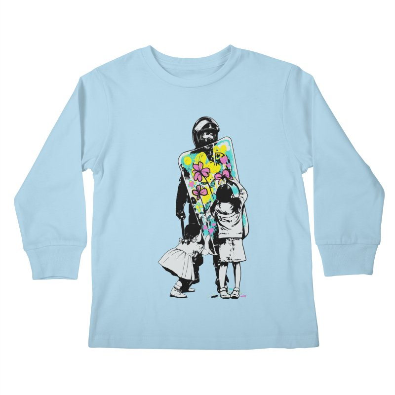 This is not a riot Kids Longsleeve T-Shirt by ES427's Artist Shop