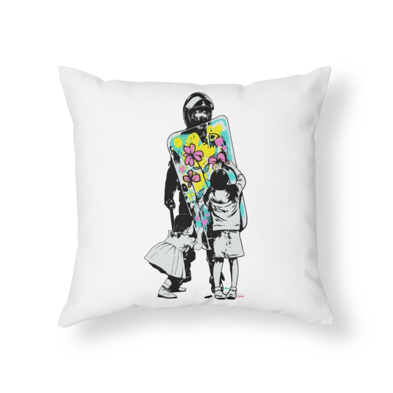 This is not a riot Home Throw Pillow by ES427's Artist Shop