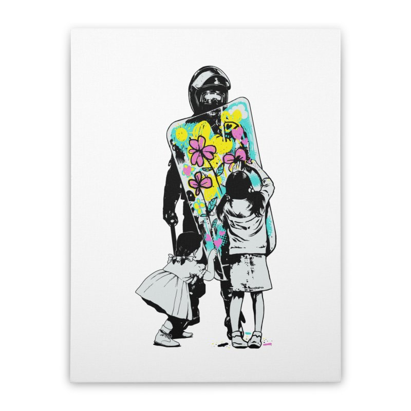 This is not a riot Home Stretched Canvas by ES427's Artist Shop