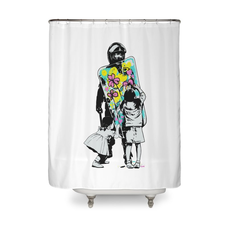 This is not a riot Home Shower Curtain by ES427's Artist Shop