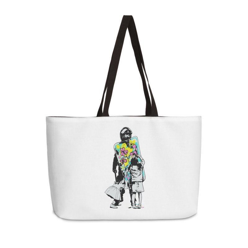 This is not a riot Accessories Weekender Bag Bag by ES427's Artist Shop
