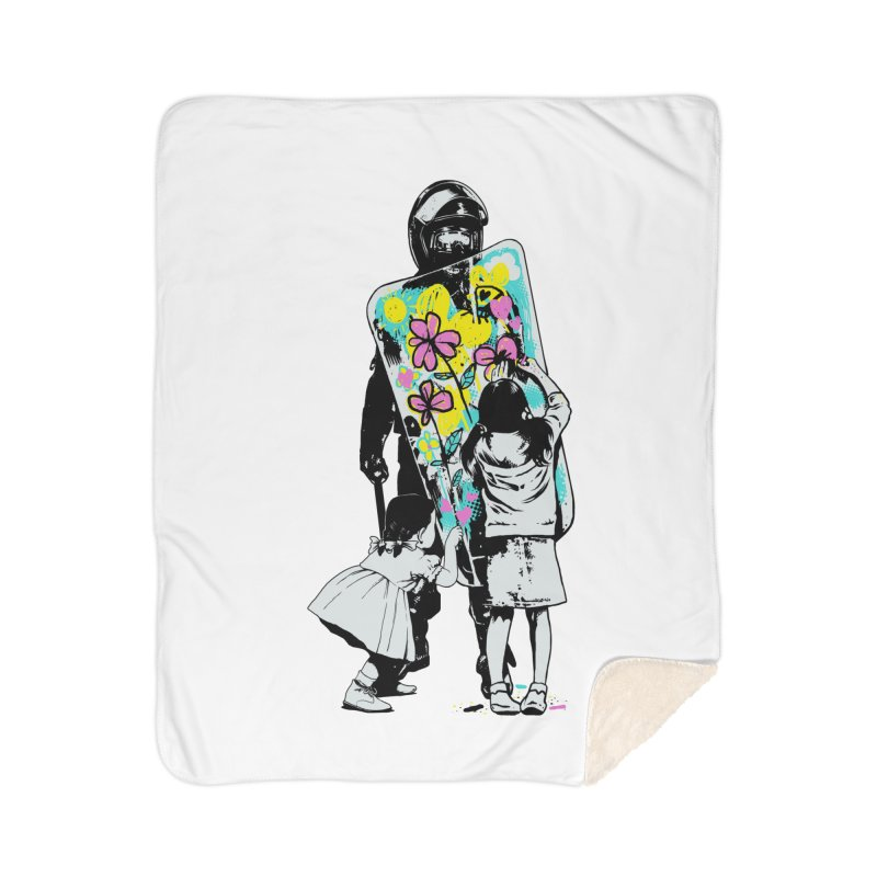 This is not a riot Home Sherpa Blanket Blanket by ES427's Artist Shop