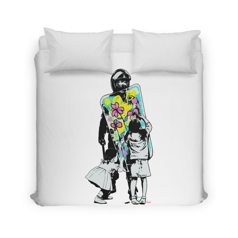 This is not a riot Home Duvet by ES427's Artist Shop