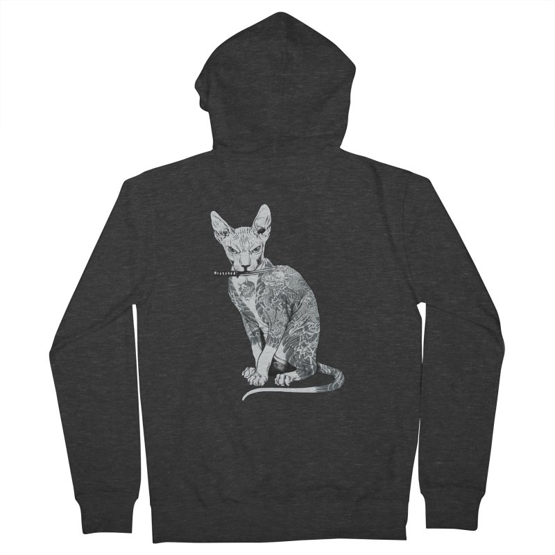 Gangster Women's French Terry Zip-Up Hoody by ES427's Artist Shop