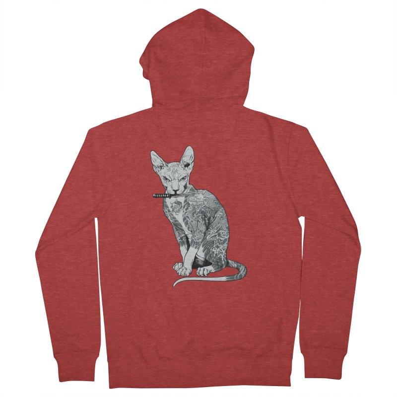 Gangster Men's French Terry Zip-Up Hoody by ES427's Artist Shop