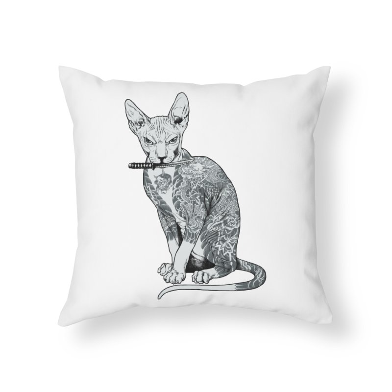 Gangster Home Throw Pillow by ES427's Artist Shop
