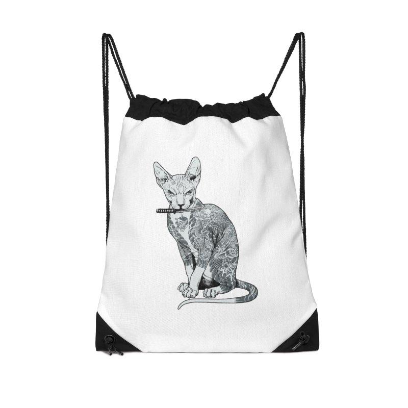 Gangster Accessories Drawstring Bag Bag by ES427's Artist Shop